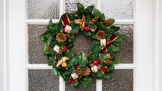 12 ways 1 - 12 Ways to Deck Your Door for the Holidays & Our  Decorated Door Giveaway!