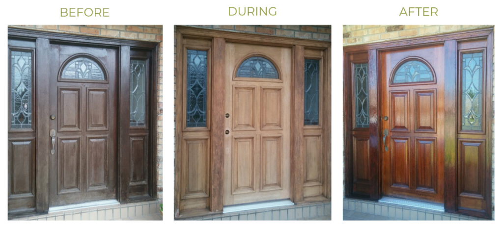 before during after 1024x467 - How to Keep Your Doors Looking Like New While in Quarantine